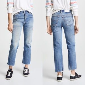 NWOT RE/DONE High Rise Stove Pipe Jeans Indigo